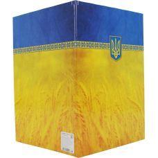 Папка на подпись,  желто-голубая, А4, Economix