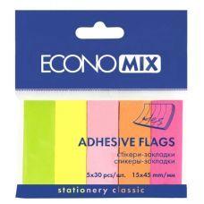 Стикер-закладка E20935 5 цветов 150 шт Economix