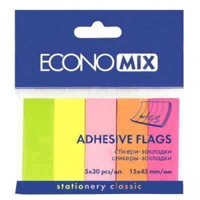 Стикер-закладка E20935 5 цветов 150 шт Economix (E20935)