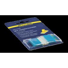 Закладки пластиковые POP-UP NEON, 45x25мм, 50л., синий