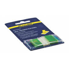 Закладки пластиковые POP-UP NEON, 45x25мм, 50л., зеленый