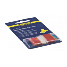 Закладки пластиковые POP-UP NEON, 45x25мм, 50л., красный