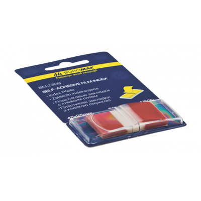 Закладки пластиковые POP-UP NEON, 45x25мм, 50л., красный (BM.2309-05)