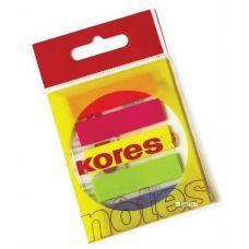Закладки с клейким слоем Kores 12x45 мм 125 листов 5 цветов, Kores
