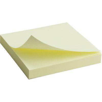 Блок бумаги с клейким слоем 75x75мм 100л  желтый (2314-01-A)