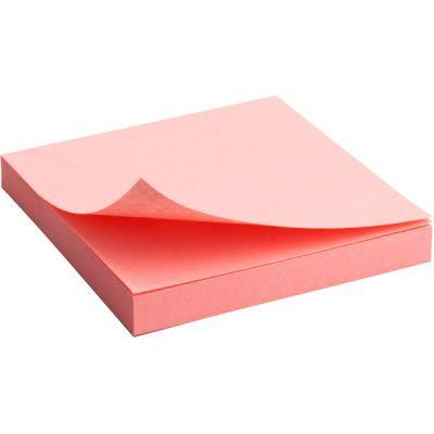 Блок бумаги с клейким слоем 75x75мм 100л  розовый (2314-03-A)