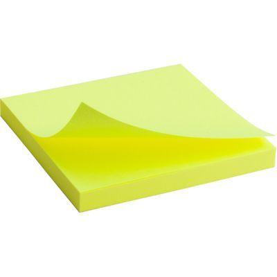 Блок бумаги с клейким слоем 75x75мм 80л  желтый неон (2414-11-A)