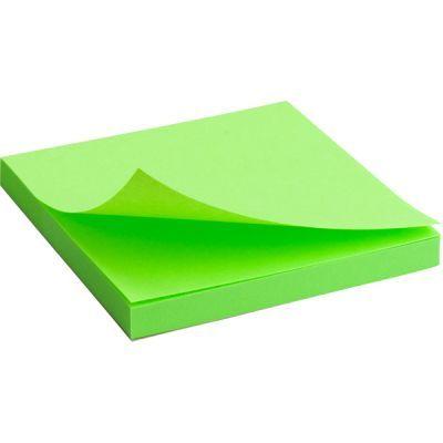 Блок бумаги с клейким слоем 75x75мм 80л  зеленый неон (2414-12-A)