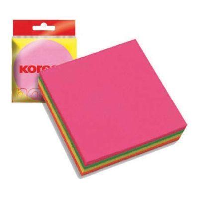 Блок бумаги с клейким слоем 75х75мм Kores 450 лист неон микс (K48465)
