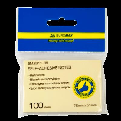 Блок бумаги с клейким слоем 51х76мм 100л. ассорти (BM.2311-99)