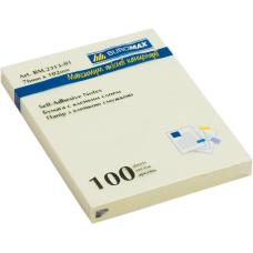 Блок бумаги с клейким слоем 75x100мм 100л. желтый