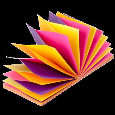 Блок бумаги с клейким слоем 76х76мм 100л гирлянда неон (4 цвет. х 25 л.) (BM.2323-97)
