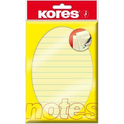 Блок бумаги с клейким слоем 100х150мм Kores 100 лист линия желтый (K46510)