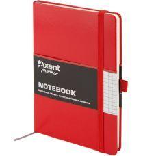 Книга записная Partner 125х195 96л клетка красный