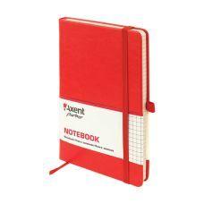 Книга записная Partner Lux 125х195 96л клетка красный