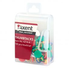 Кнопки цветные 100шт пластиковое покрытие