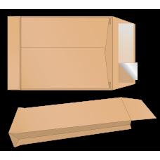 Конверт В4 скл крафт боковой 130 мкр (0+0) розш. 3 стор.