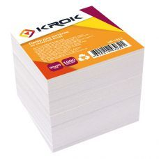 Блок бумаги для заметок белый 90х90х80мм не проклеенный