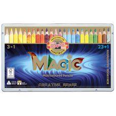 Набор многоцветных карандашей KOH-I-NOOR MAGIC 3 in 1, 23 шт. + блендер