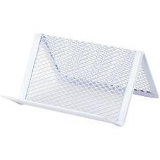 Подставка для визиток 95x80x60мм, метал, белая