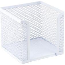 Куб для бумаги Axent 2112-21-A, 100х100х100 мм, металлическая сетка, белый