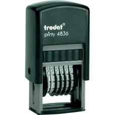 Мининумератор пластмассовый 6-разрядный, шрифт 3,8 мм