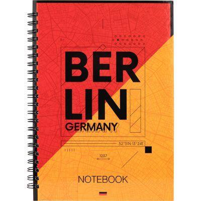 Блокнот на спирали Axent Berlin 8032-05-A, А5, твёрдая обложка, 96 листов, клетка