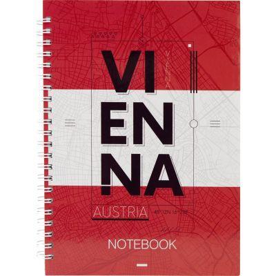 Блокнот на спирали Axent Vienna 8032-07-A, А5, твёрдая обложка, 96 листов, клетка