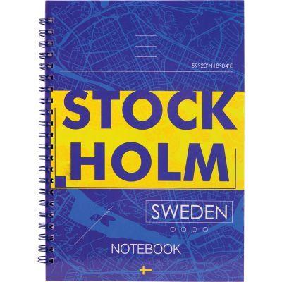 Блокнот на спирали Axent Stockholm 8032-08-A, А5, твёрдая обложка, 96 листов, клетка
