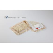 Моп петлевой хлопковый для влажной и мокрой уборки, карманы/ленты, 40х13 см PRO