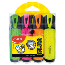 Набор текстовых маркеров FLUO PEPS Classic 4 цвета на блистере, Maped