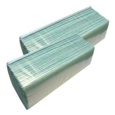 Полотенца бумажные макулатурные V-образные 160шт. зеленые (10100102)