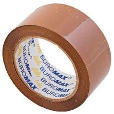 Скотч упаковочный 48мм x 50ярдов х 40мкм коричневый JOBMAX